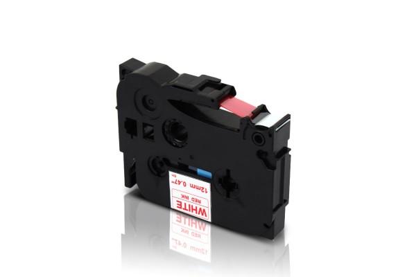 Kompatibel zu Brother TZE-232 P-Touch Schriftband 12mm Rot auf Weiss