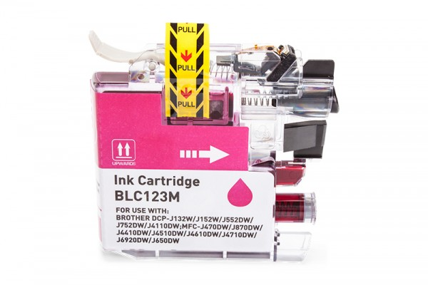 Kompatibel zu Brother LC-123M Tinte Magenta