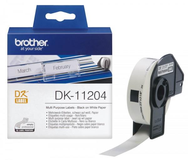 Brother DK-11204 Etiketten