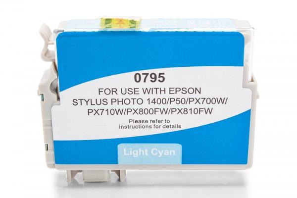 Kompatibel zu Epson T0795 / C13T07954010 Tinte Light-Cyan
