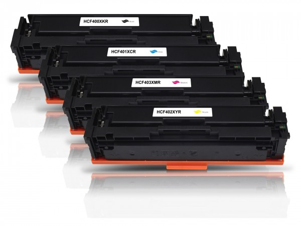 Kompatibel zu HP CF400X CF401X CF402X CF403X / 201X Toner Multipack CMYK (5er Set)