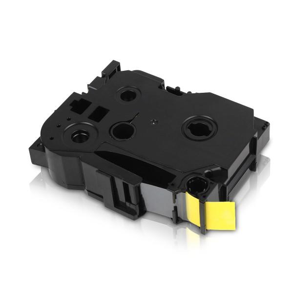 Kompatibel zu Brother TZE-641 P-Touch Schriftband 18mm Schwarz auf Gelb