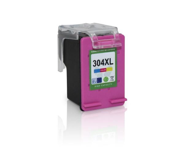 Kompatibel zu HP 304 XL / N9K07AE Tinte Color mit Füllstandsanzeige (EU)