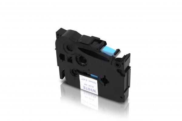Kompatibel zu Brother TZE-233 P-Touch Schriftband 12mm Blau auf Weiss